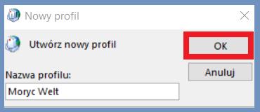 Nazwa nowego profilu